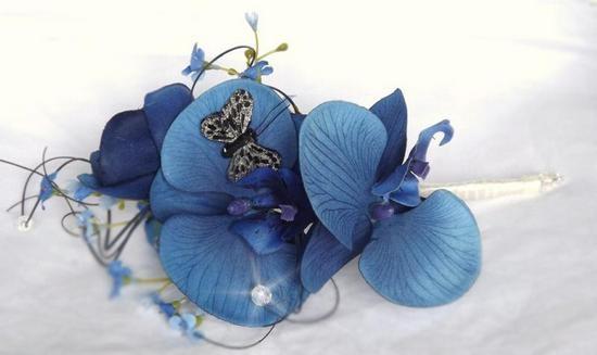 Орхидеи из фоама с рельефными лепестками