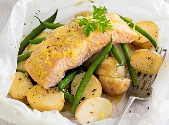 запеченное филе рыбы в духовке с картошкой