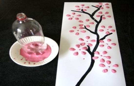 Оригинальная открытка с лепестками сакуры: мастер-класс