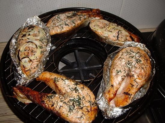 Сковорода чудо-гриль-газ позволяет вкусно и быстро приготовить рыбу