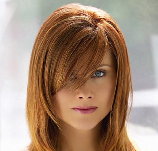 Причёска каскад с челкой фото на средние волосы