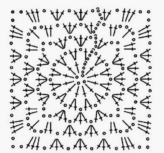 Бабушкин квадрат крючком: схемы для пледов