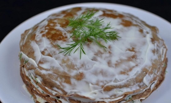 торт печеночный из куриной печени с молоком рецепт