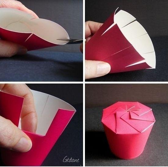 Подарочные коробки своими руками из картонного стаканчика