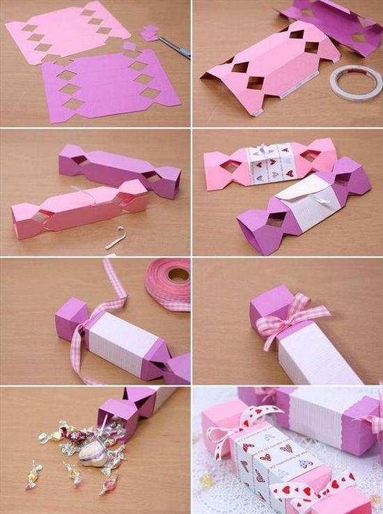 Подарочные коробки своими руками из картона в форме конфеты
