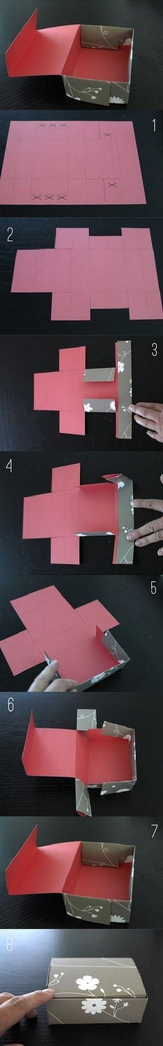 Подарочные коробки своими руками из картона