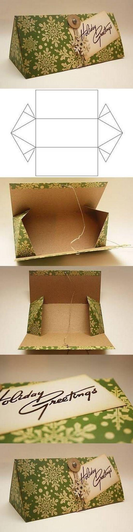 Подарочные коробки своими руками из картона треугольная
