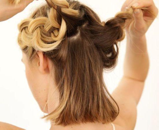 Прически на середнє волосся
