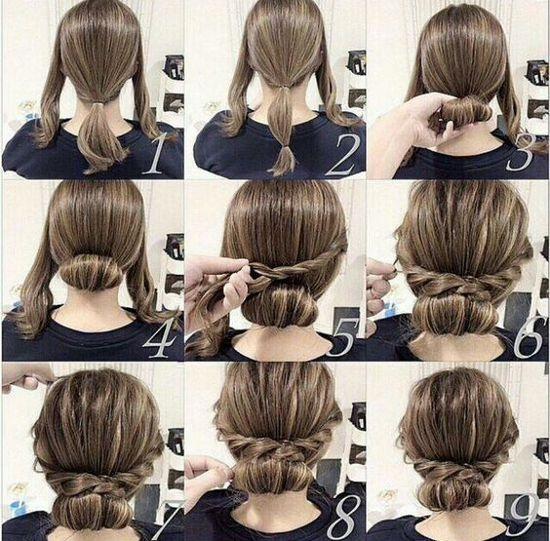 Прически для средней длины волос в домашних условиях