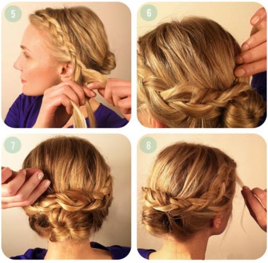 Прически на волосы средней длины с челкой