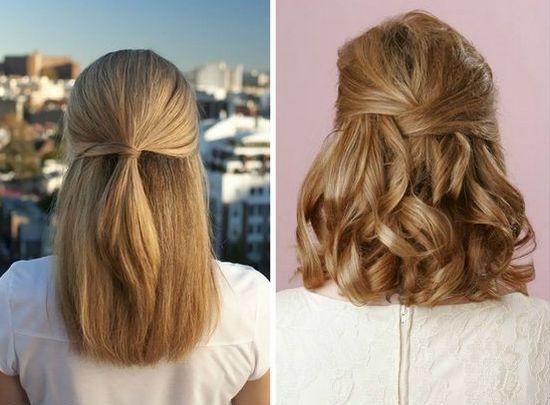 Прически на средней длины волосы в домашних условиях