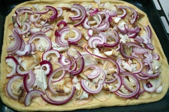 Тесто для пирога из рыбы