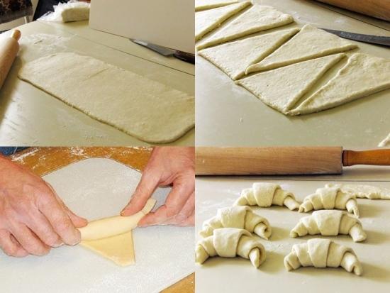 Как сделать тесто к слоеным рогаликам