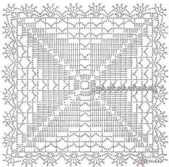 Вязание крючком прямоугольные салфетки и схемы