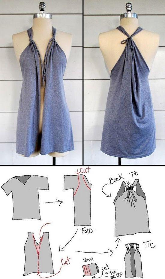 Как сшить платье своими руками быстро без футболки