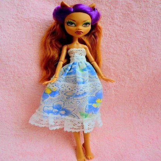 Как сшить платье для куклы Монстер Хай?