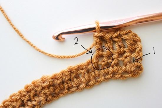 Вязание столбиков с накидом