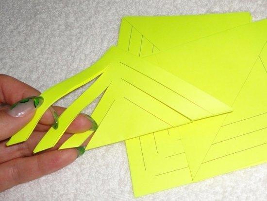 Как сделать снежинку из бумаги объемную: схема