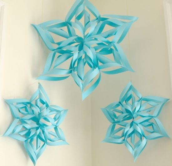 Как сделать объемную снежинку из бумаги поэтапно