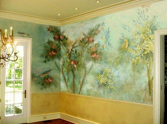 мастер класс по росписи стены