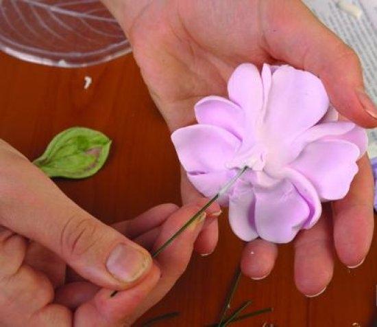Холодный фарфор своими руками: роза