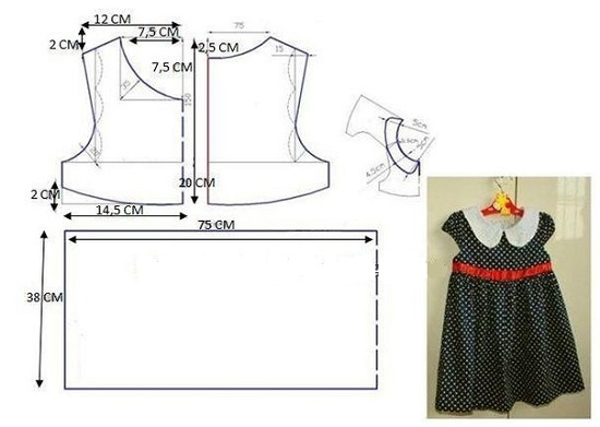 Выкройка детского платьица