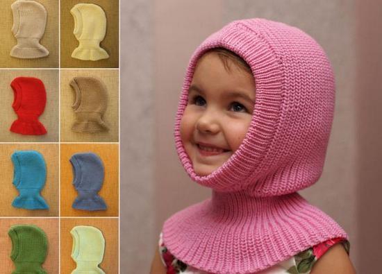 Схема вязания шапки-шлема для девочки