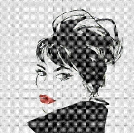 Вышивка черно белые рисунки