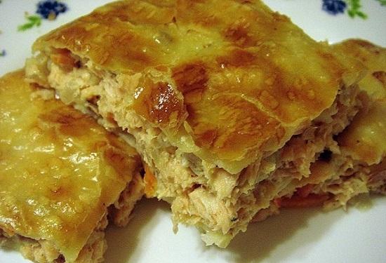 салат наполеон рецепт с курицей и грибами слоями