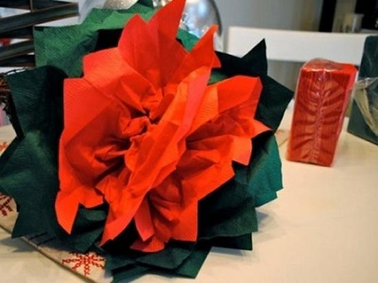 Цветы своими руками из салфеток: мастер-класс