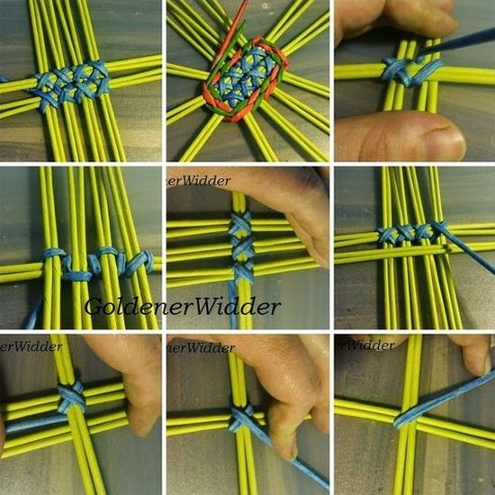 Виды плетения из газетных трубочек