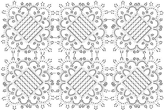 Прямоугольная скатерть крючком: схемы и описание