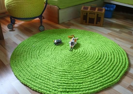 Вязание крючком круглых ковриков