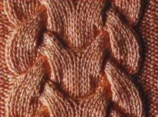 Схема узора «королевские косы