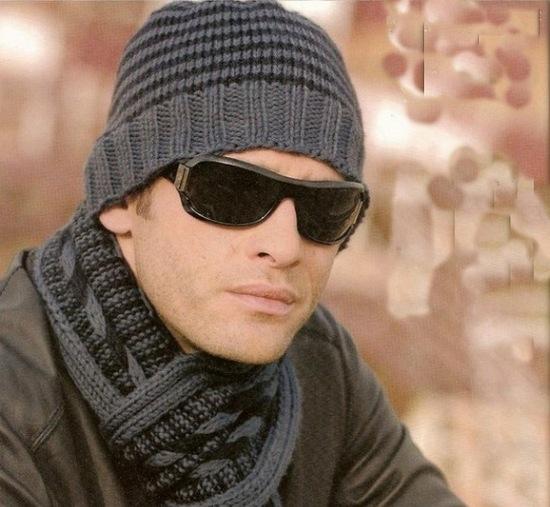 Вяжем стильную мужскую шапку