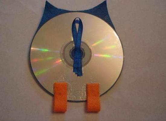 Сова из компакт дисков своими руками