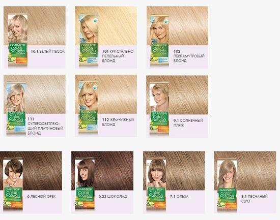 Как выбрать цвет волос гарньер