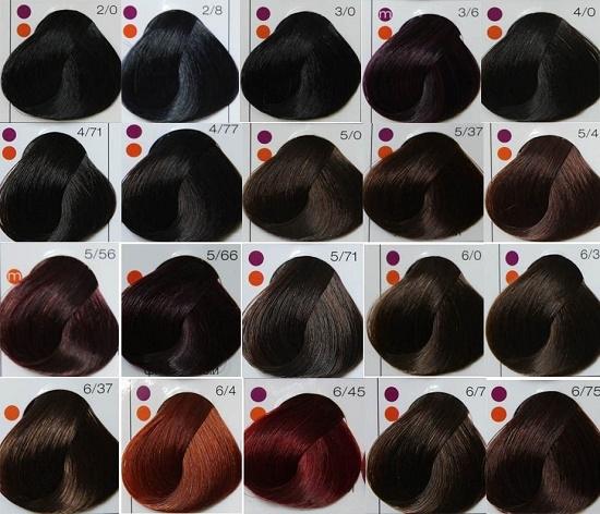 Краска для волос лонда профессионал палитра цветов фото на волосах