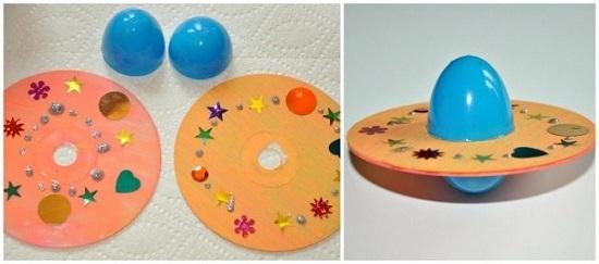 Поделки из дисков своими руками для детей, дома