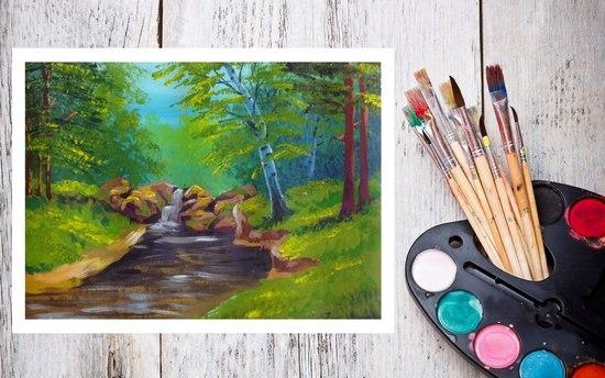 Как акварельными красками изобразить природу?
