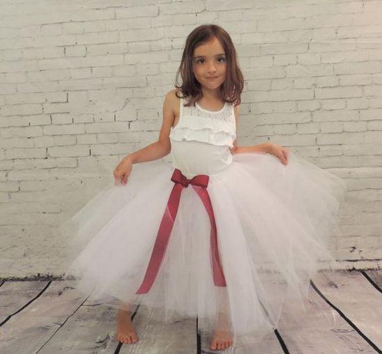 Мастер-класс: юбка из фатина на чехле для девочки