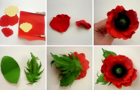 Полевые цветы из фоамирана: мастер-класс