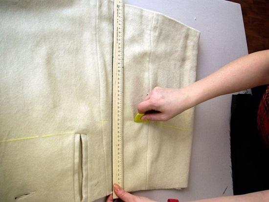 отмеряем высоту моделируемой баски