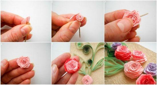 Квиллинг цветов с роз
