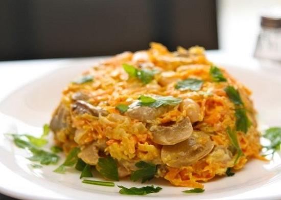 Овощная закуска в салатнице из помидора – кулинарный рецепт