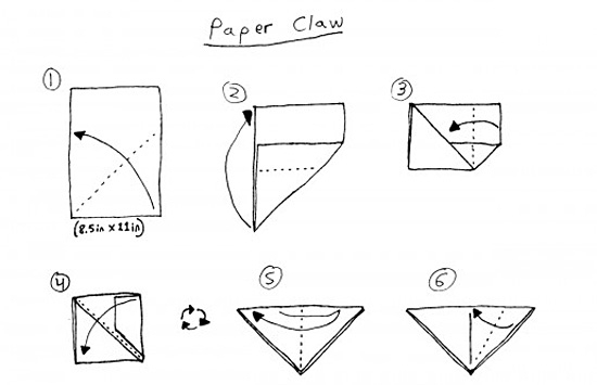 Как можно сделать из бумаги когти фото 28