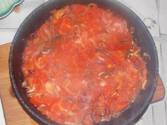 Рагу из баклажанов, кабачков и капусты