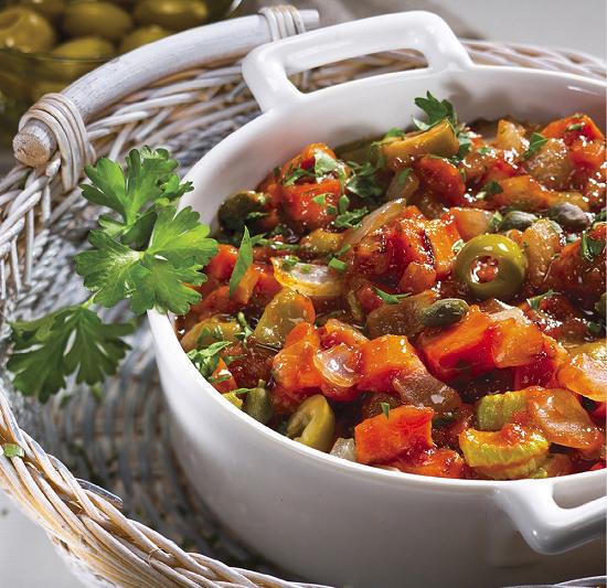 овощного рагу с баклажанами и кабачками в томатном соусе