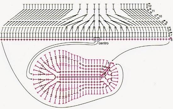 Вязание крючком домашней обуви схемы