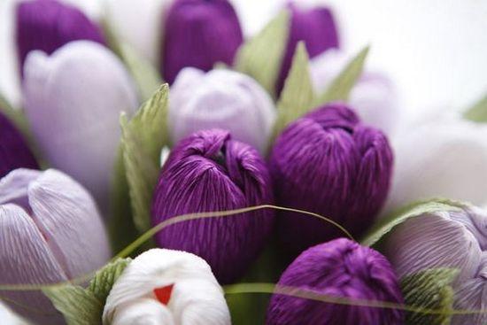 Тюльпаны из гофрированной бумаги своими руками | LS Тюльпан из Гофрированной Бумаги